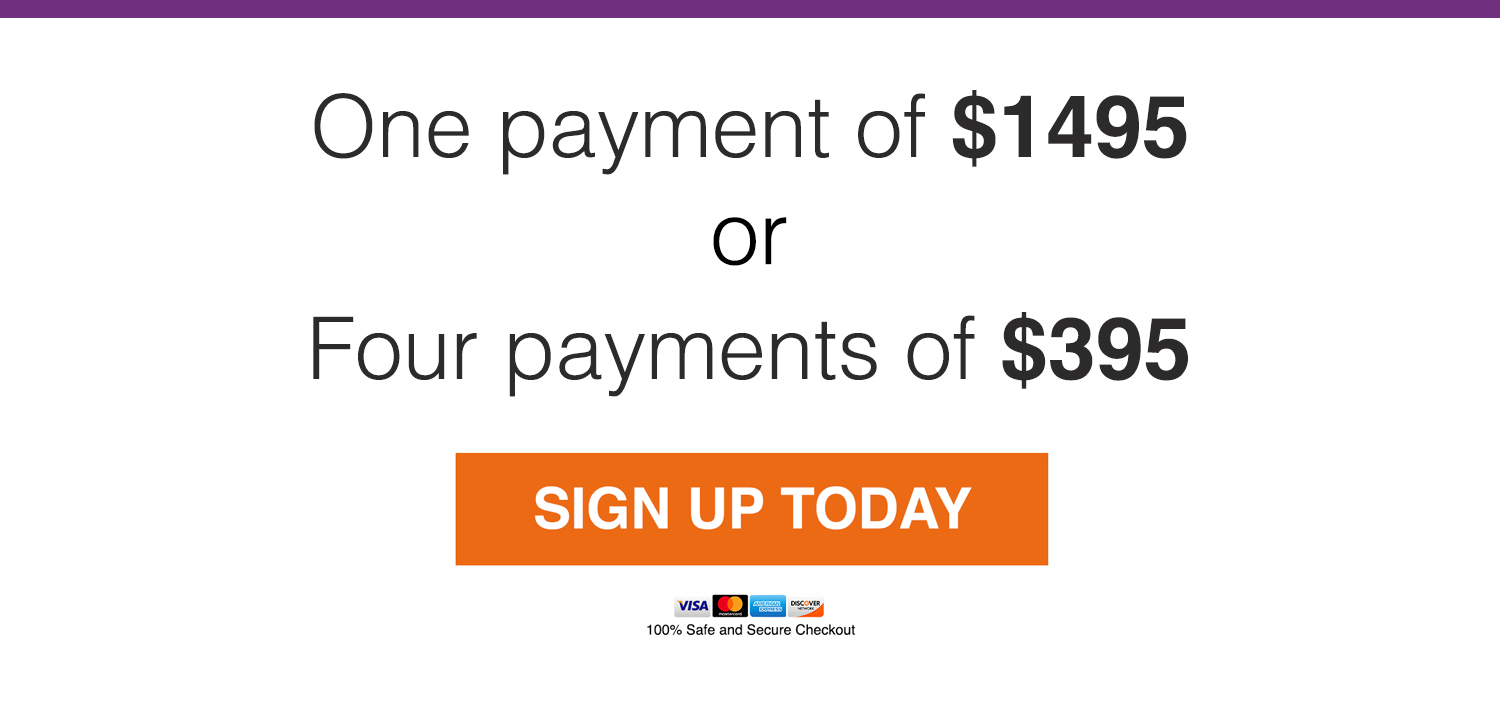 Payment Button Sign Up Today